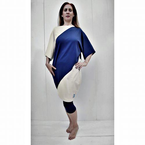 Arena vestido bicolor pima organico